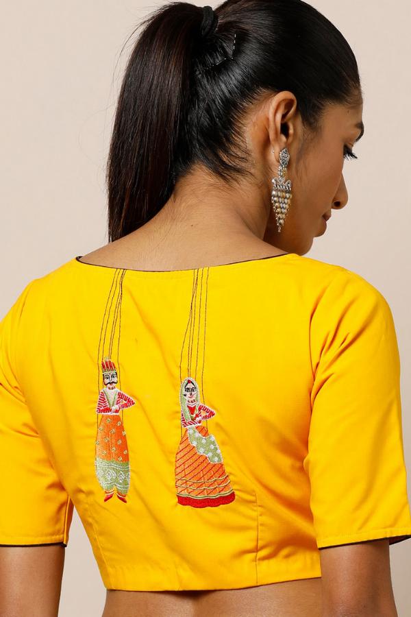 Back Embroidered Blouse Design