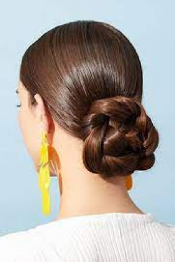 Low Heavy Bun Hairstyle
