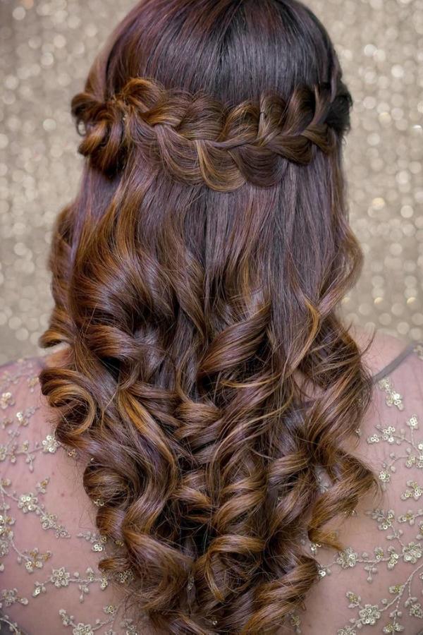 half open braid hairstyle