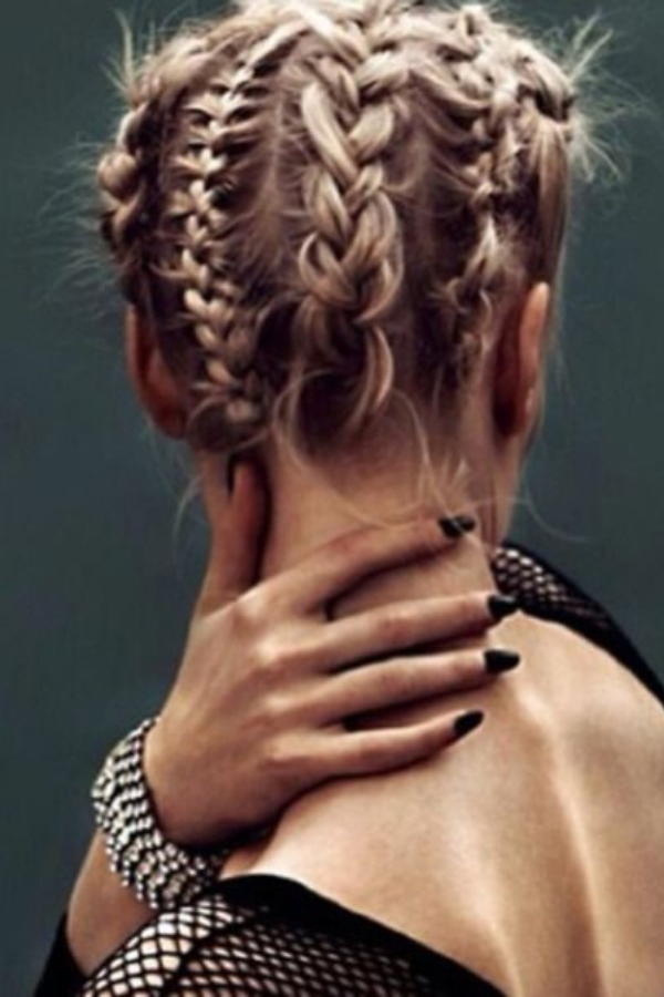 Multiple Back Braids Hairstyle