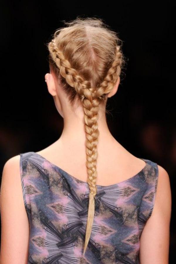 Single Back Braid Hairstyle