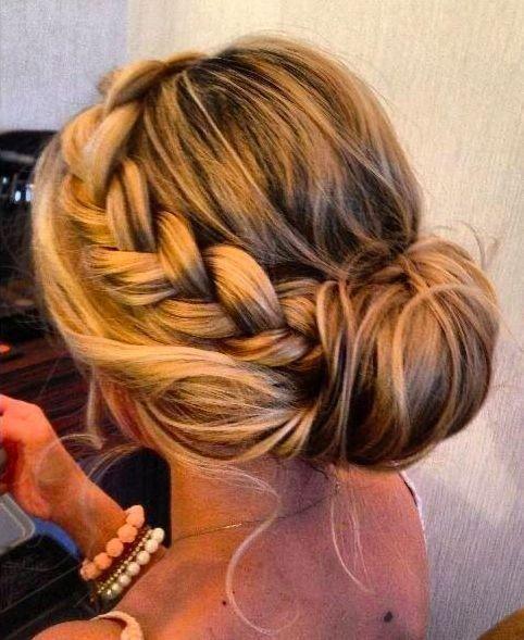 Side Braid n Bun Hairstyle for Women