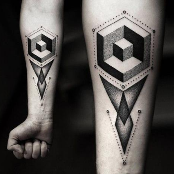 Geometrical Tattoo Design