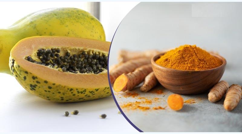Turmeric + papaya + curd
