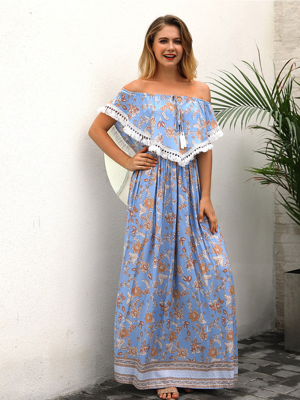 Cape Style Maxi Dresses
