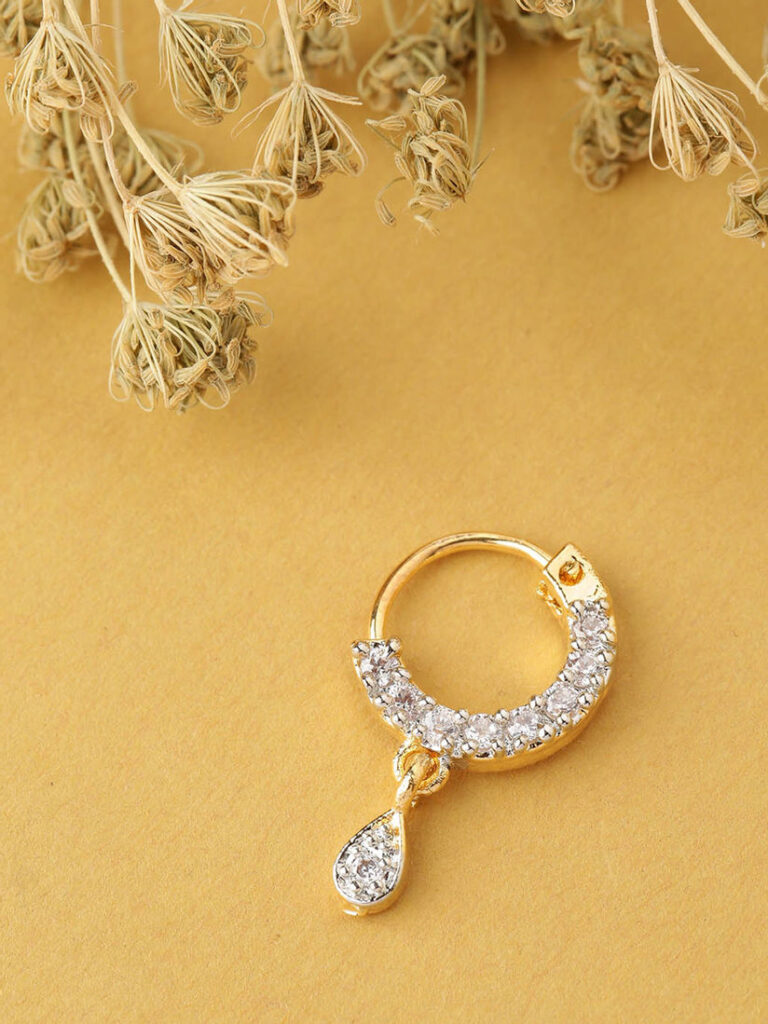 Nose Ring Studded With Diamond