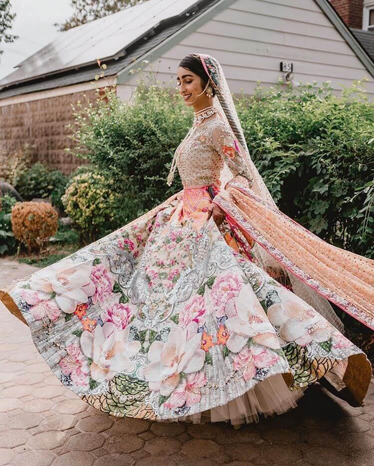 Floral Bridal Lehenga Design