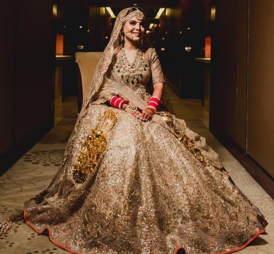 The Glittery Gold Bridal Lehenga Collection